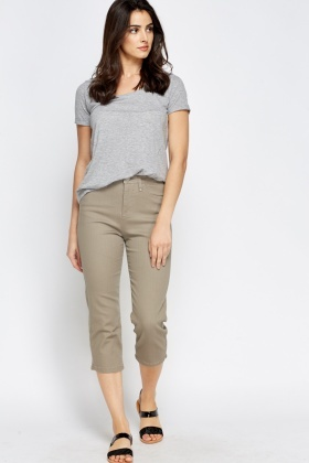Diamante Pocket Cropped Jeans