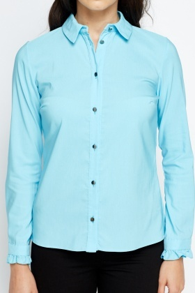 Pleated Cuff Shirt