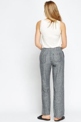34fd24be0f91 Linen Blend Wide Leg Trousers - Just £5