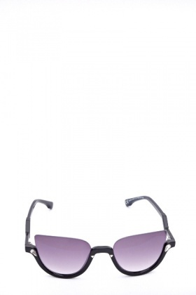 Metal Half Frame Sunglasses
