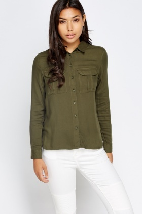 Casual Olive Shirt