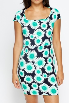 Daisy Print Multi Dress