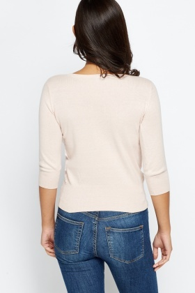 Lace Overlay Side Jumper