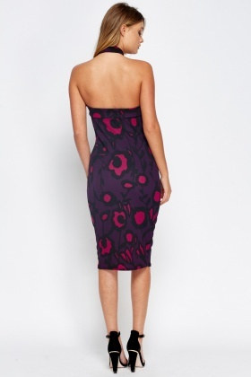Holtarneck Plum Printed Dress