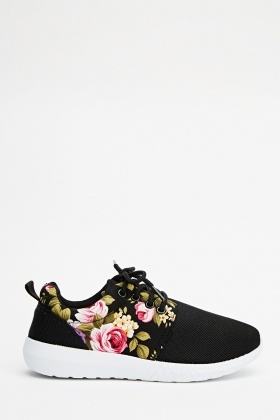 Flower Print Trainers - Just $6