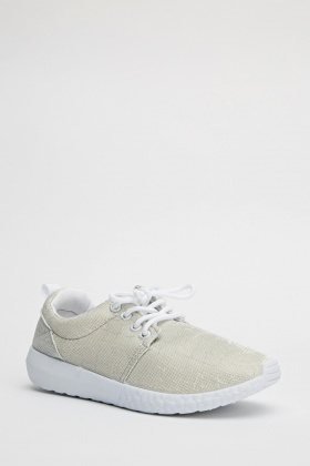 Lurex Lace Up Trainers