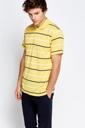 Casual Striped Polo T-Shirt