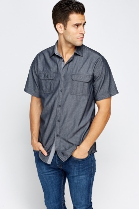 Textured Dark Grey Shirt