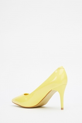 Yellow Pointed Hi-Shine Heels