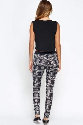 Geo Mix Print Leggings