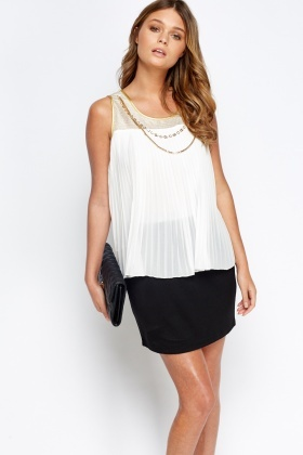 Ruffle Overlay Mini Dress