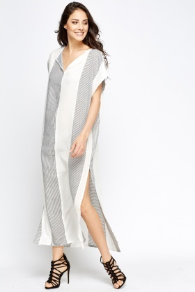 Slit Side Kaftan Dress