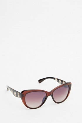 Lace Printed Frame Sunglasses