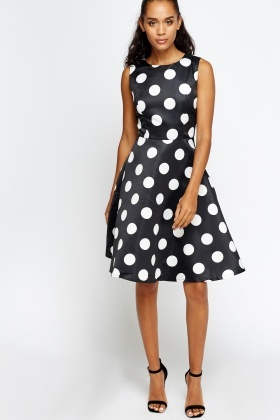 great deals classic shoes shop best sellers Large Polka Dot Skater Dress - Just $6