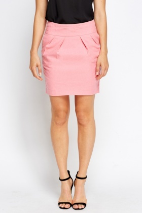 Pink Pleated Mini Skirt - Just £5