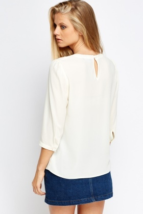 Ruffled Front Panel Blouse