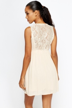 Lace Back Elasticated Dress