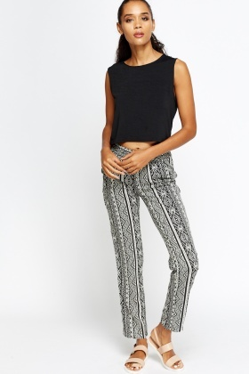 Mix Geo Black Trousers