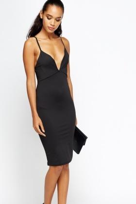 d0912b9536b3 Plunge V-Neck Bodycon Dress - Just £5