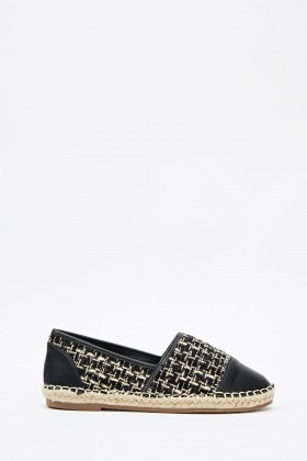 Faux Leather Front Espadrilles