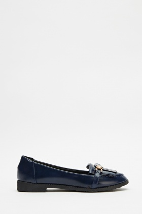 Hi-Shine Fringed Loafers