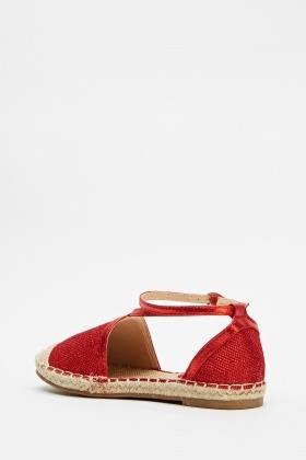 Lurex Espadrille Sandals
