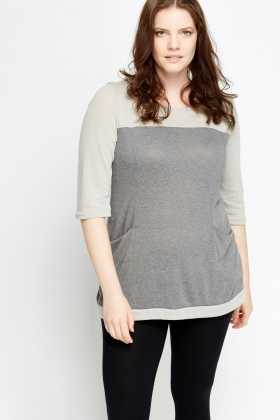 Contrast Pocket Side Top