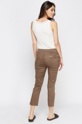Cropped Fitted Trousers