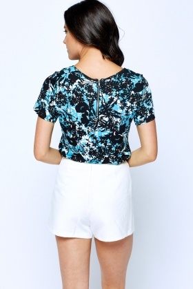 Printed Scribble Floral T-Shirt
