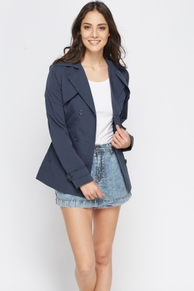 Double Button Front Mac Coat