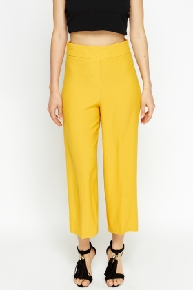 High Waisted Mustard Trousers