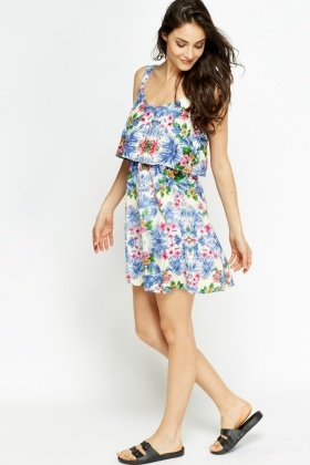 Overlay Floral Summer Dress