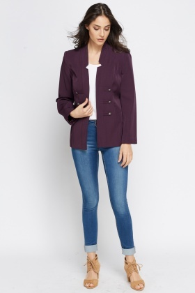 Purple Open Front Jacket