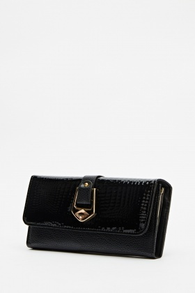 Black Front Detailed Purse