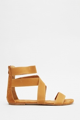 Criss Cross Strap Ankle Sandals