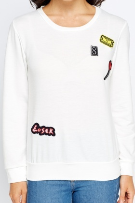 Badge Detailed Jumper