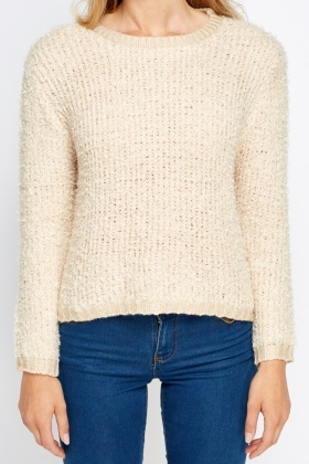 Eyelash Knit Cropped Jumper