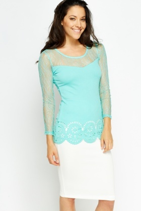 Laser Cut Out Hem Top