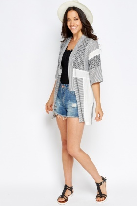Mix Stripe Cover Up