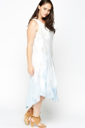 Tie Dye Midi Asymmetrical Dress