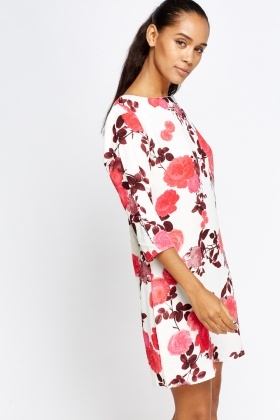 Blossom Print Shift Dress