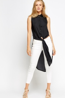 Tie Up Front Long Top