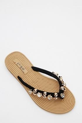 5310ebc35f65 Embellished Flip Flops - Just £5