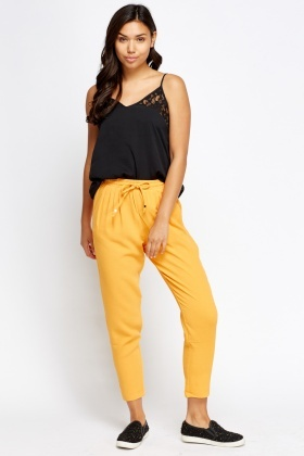 Orange Casual Trousers