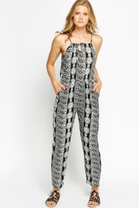 Spaghetti Strap Elasticated Jumpsuit