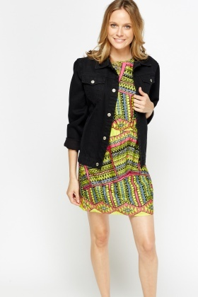 Elasticated Aztec Printed Dress