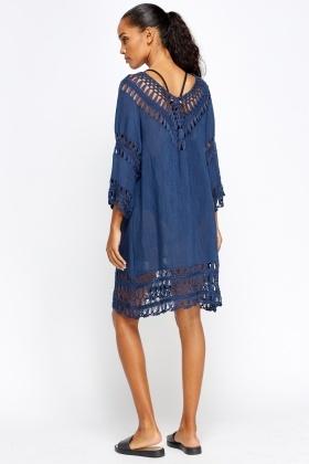 303002263bd Crochet Insert Beach Cover Up Dress - Just £5