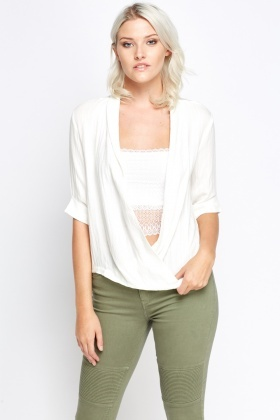 Plunge Wrap Top