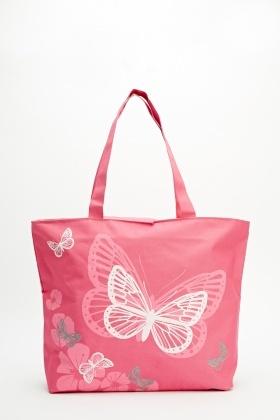 6f4b73647b Butterfly Print Tote Bag - Just £5