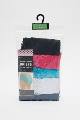 Pack Of 5 Brazilian Briefs